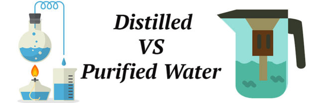 distilled purified water