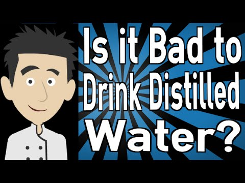 is drinking distilled water healthy