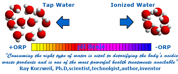 orp of ionized water